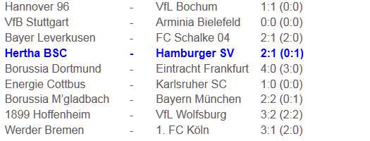 Hertha BSC Hamburger SV Thorsten Kinhöfer 7 gelbe Karten