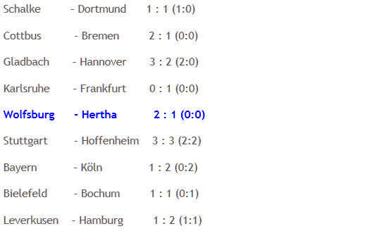 Herthinho Rodnei VfL Wolfsburg Hertha BSC