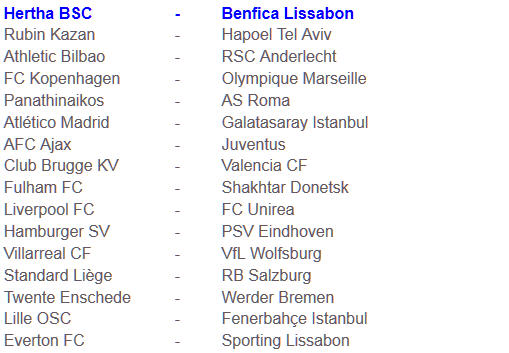 Hertha BSC Benfica Lissabon UEFA Europa League