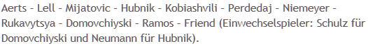 Mannschaftsaufstellung Hertha BSC DFB-Pokal
