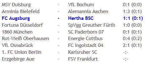FC Augsburg Hertha BSC Kartenfestival 2010-12-20