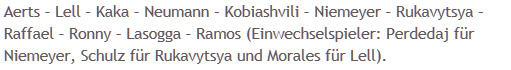 Mannschaftsaufstellung Rot-Weiß Oberhausen Hertha BSC