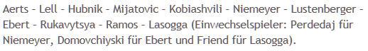 Mannschaftsaufstellung Alemannia Aachen Hertha BSC