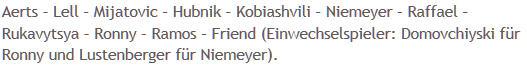 Mannschaftsaufstellung Hertha BSC 1 FC Union Berlin