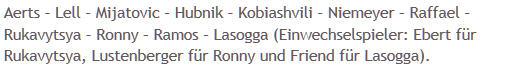 Mannschaftsaufstellung Ost-Derby Hertha BSC Energie Cottbus