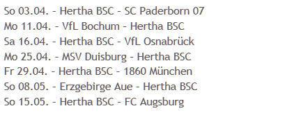 FC Ingolstadt 04 Hertha BSC Restprogramm Aufstieg Bundesliga