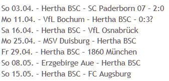 Hertha BSC Restprogramm Aufstieg Bundesliga 2011-04-04
