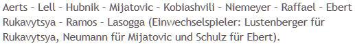 Mannschaftsaufstellung Hertha BSC SC Paderborn 07
