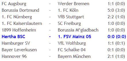 6-Punkte-Spiel Hertha BSC 1. FSV Mainz 05