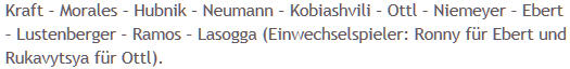 Mannschaftsaufstellung Hertha BSC Hannover 96