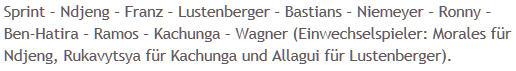 Mannschaftsaufstellung Hertha BSC Wormatia Worms