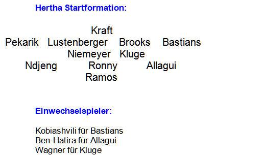 Berlin-Derby Mannschaftsaufstellung Hertha BSC 1. FC Union Berlin