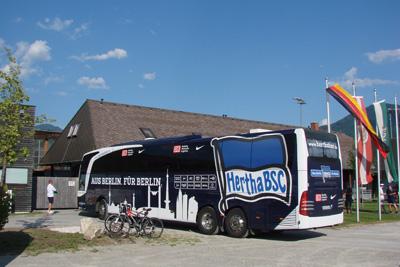 Hertha BSC Bus Mannschaftsbus