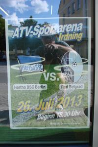 Werbeplakat Hertha BSC Rad Belgrad Testspiel Österreich
