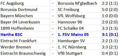 Doppeltorschütze Sami Allagui Hertha BSC 1. FSV Mainz 05