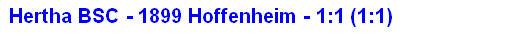 2014 - Spielergebnis Hertha BSC - 1899 Hoffenheim - 1:1