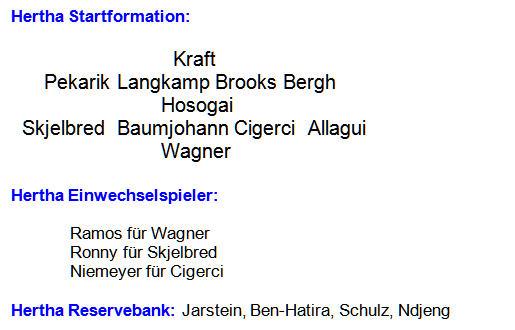 2014 - Mannschaftsaufstellung Hertha BSC Eintracht Braunschweigeig-2014-04-28