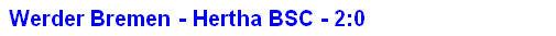2014 - Spielergebnis Werder Bremen - Hertha BSC - 2:0