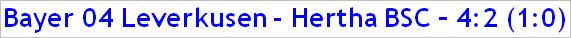 September 2014 - Spielergebnis - Bayer 04 Leverkusen - Hertha BSC - 4:2