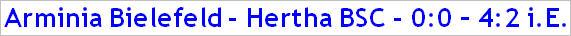 Oktober 2014 - Spielergebnis - Arminia Bielefeld - Hertha BSC -4-2 i.E.