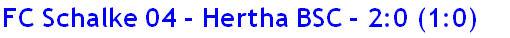 Oktober 2014 - Spielergebnis - FC Schalke 04 - Hertha BSC - 2:0