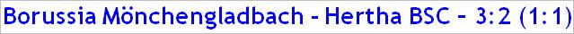 Dezember 2014 - Spielergebnis - Borussia Mönchengladbach - Hertha BSC - 3:2