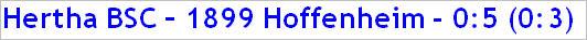 Dezember 2014 - Spielergebnis - TSG 1899 Hoffenheim - Hertha BSC - 0:5