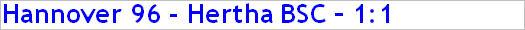 April 2015 - Spielergebnis - Hannover 96 - Hertha BSC - 1:1