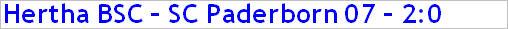 April 2015 - Spielergebnis - Hertha BSC - SC Paderborn 07 - 2:0