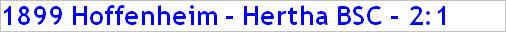 Mai 2015 - Spielergebnis - 1899 Hoffenheim - Hertha BSC - 2:1