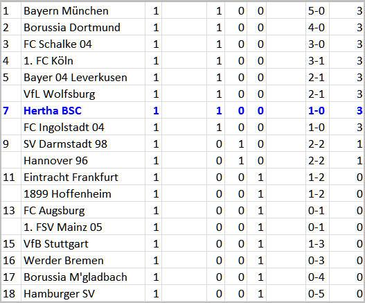 Blutige Köpfe Gelb-Rote Karten FC Augsburg Hertha BSC