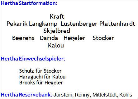 Mannschaftsaufstellung FC Augsburg Hertha BSC 2015-08-17