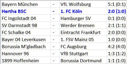 Matchwinner Vedad Ibisevic Hertha BSC 1. FC Köln