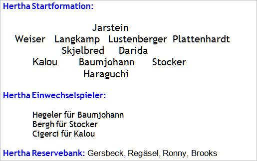 Oktober 2015 - Mannschaftsaufstellung - FC Ingolstadt 04 - Hertha BSC