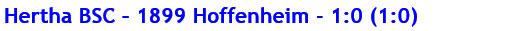 November 2015 - Spielergebnis - Hertha BSC - 1899 Hoffenheim - 1:0