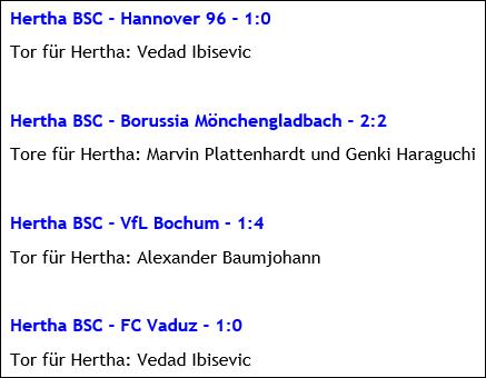 Testspiele Hertha BSC Winter 2016 Türkei Belek