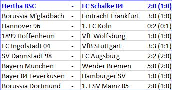 Matchwinner Vedad Ibisevic Hertha BSC - FC Schalke 04