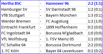 Torjäger Vedad Ibisevic Hertha BSC - Hannover 96 2:2