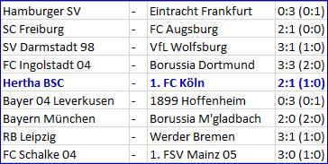 Faszinosum Vedad Ibisevic Hertha BSC - 1. FC Köln