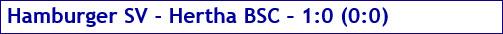 März 2017 - Spielergebnis - Hamburger SV - Hertha BSC - 1:0
