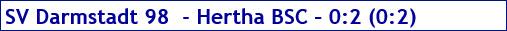 Mai 2017 - Spielergebnis - SV Darmstadt 98 - Hertha BSC - 0:2
