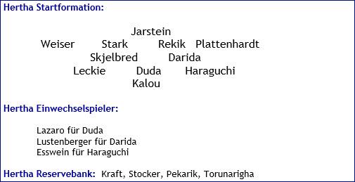 Oktober 2017 - Mannschaftsaufstellung - FC Bayern München - Hertha BSC