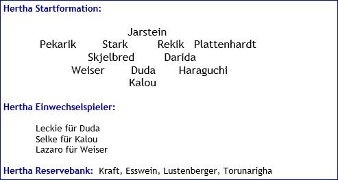 Oktober 2017 - Mannschaftsaufstellung - Hertha BSC - FC Schalke 04
