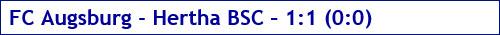 Dezember 2017 - Spielergebnis - FC Augsburg - Hertha BSC - 1:1