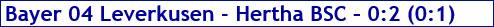 Februar 2018 - Spielergebnis - Bayer 04 Leverkusen - Hertha BSC - 0:2