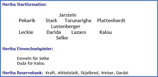 Februar 2018 - Mannschaftsaufstellung - FC Bayern München - Hertha BSC - 0:0