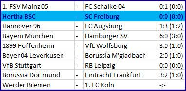 Matchpaln Pal Dardai Hertha BSC - SC Freiburg