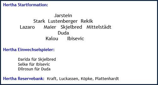 Oktober 2018 - Mannschaftsaufstellung - Borussia Dortmund - Hertha BSC - 2:2 (1:1)