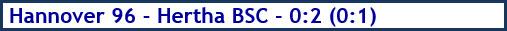 Hannover 96 - Hertha BSC - 0:2 (0:1) - Spielergebnis - Dezember 2018