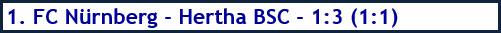 1. FC Nürnberg - Hertha BSC - 1:3 (1:1) - Spielergebnis - Januar 2019